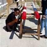peinture des barres d'obstacle pour chevaux toulouse